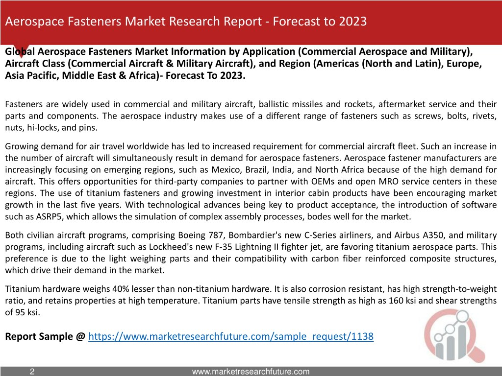 PPT - Aerospace Fasteners Market Research Report- Global