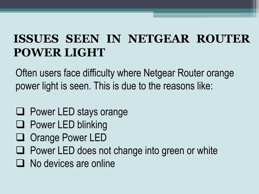 PPT - Contact Netgear Router Support Number if it is