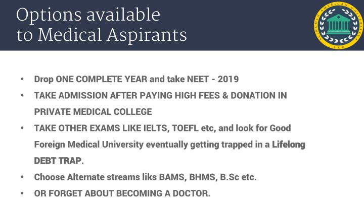 PPT - Want to become a doctor but did not qualify NEET