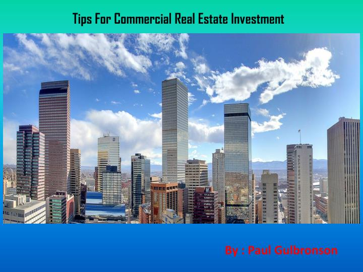 tips for commercial real estate investment n.