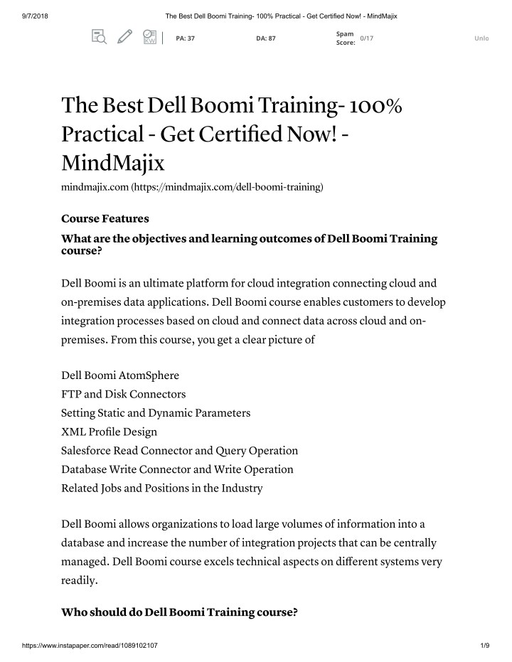 PPT - Dell boomi Online Training With free Certification PowerPoint