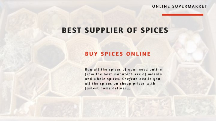 PPT - Best Supplier of Spices | Buy Dried Fruits Online