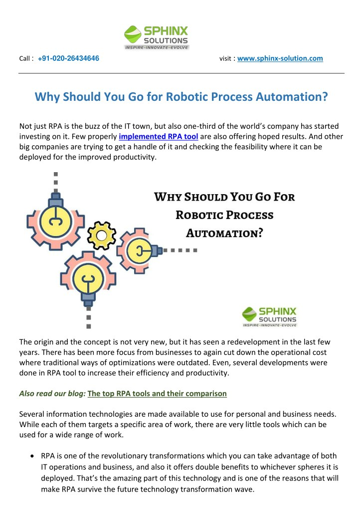 PPT - Why Should You Go for Robotic Process Automation