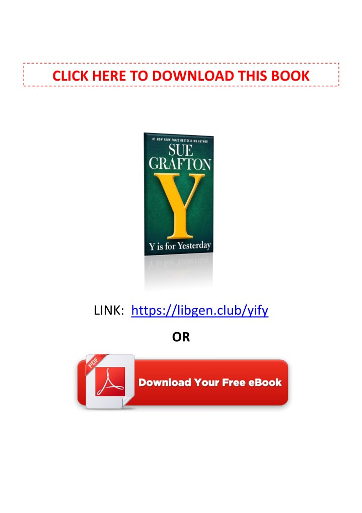 PPT - [PDF] Free Download Y is for Yesterday By Sue Grafton