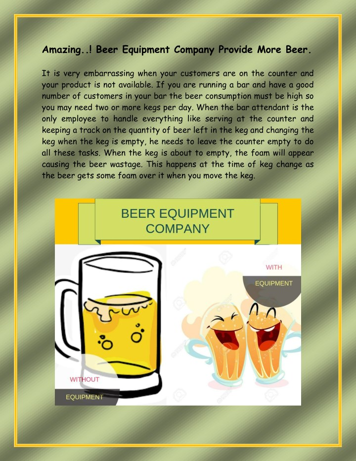 amazing beer equipment company provide more beer n.