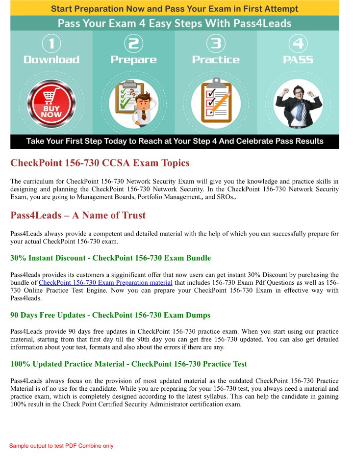 PPT - 2018 Updated 156-730 CCSA Exam Practice Questions