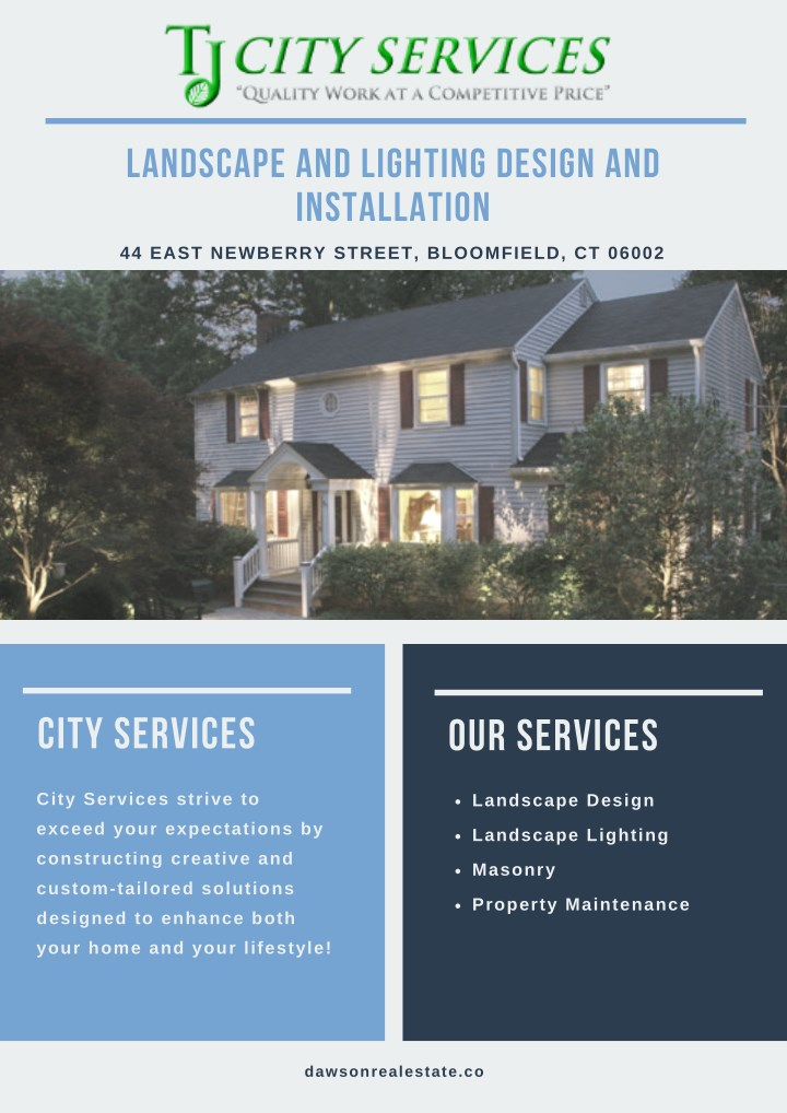 landscape and lighting design and installation n.