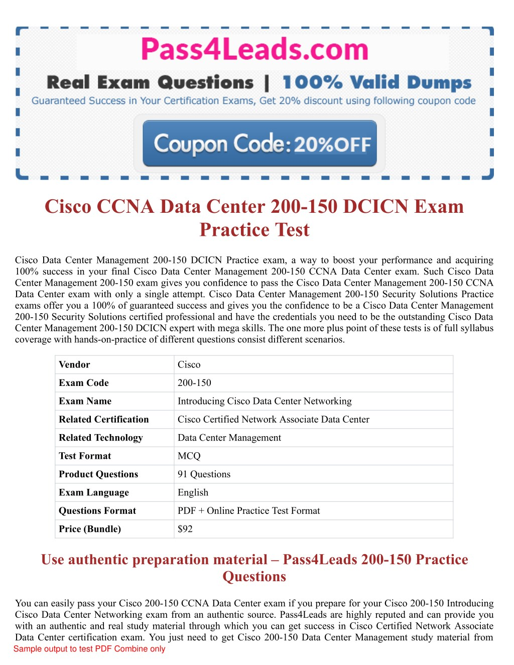 Ppt 200 150 Exam Practice Test Online 2018 Updated With 30