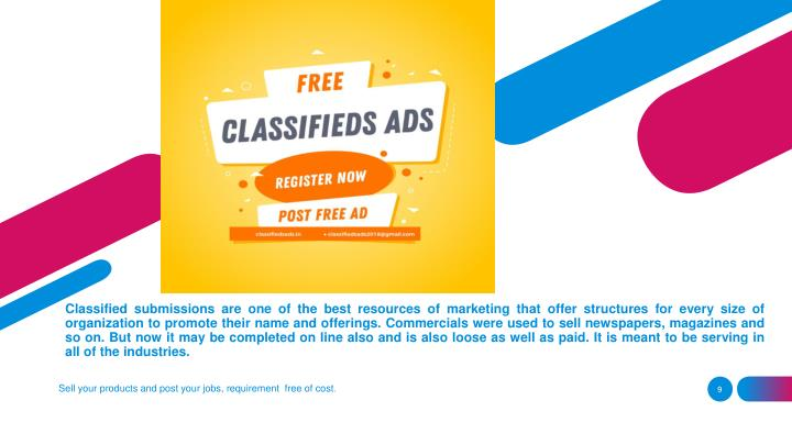 PPT - Free Classified Ads India - Free Classified Ad