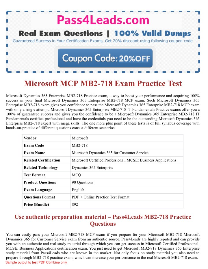 Ppt Microsoft Mb2 718 Exam Practice Questions 2018 Updated