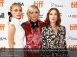 chloe grace moretz poses with isabelle huppert