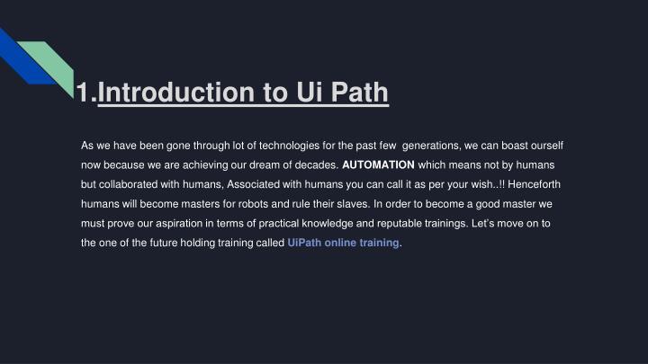 PPT - UiPath Online training PowerPoint Presentation - ID:8001574
