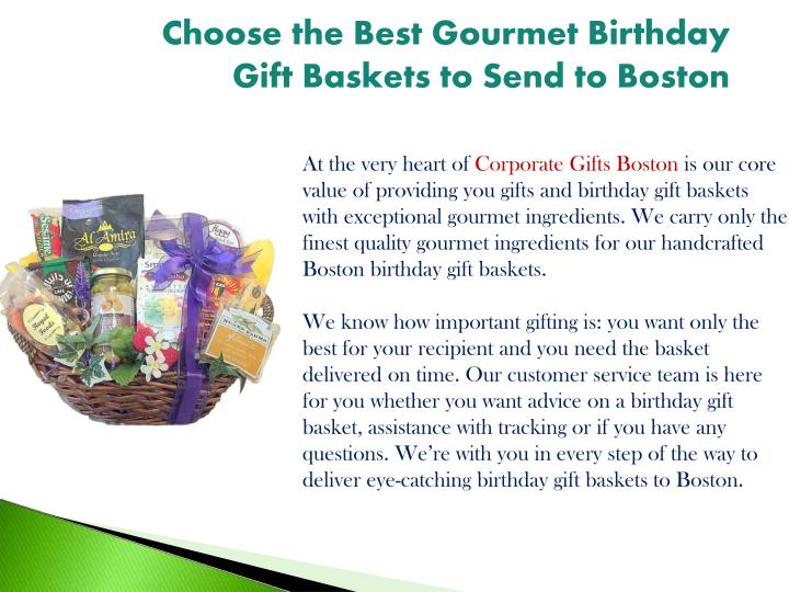 Choose The Best Gourmet Birthday Gift Baskets To Send Boston