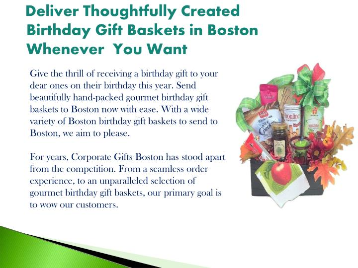 Deliver Thoughtfully Created Birthday Gift Baskets In