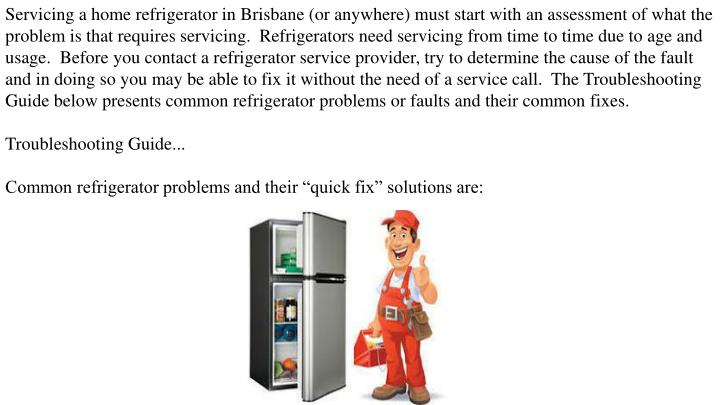 PPT - Why not to Delay Fridge Repairs PowerPoint Presentation - ID