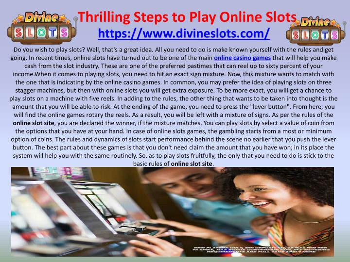 thrilling steps to play online slots n.