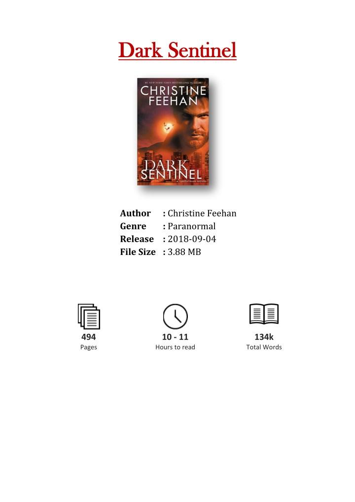 PPT - [PDF] Free Download Dark Sentinel By Christine Feehan