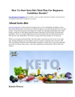 how to start keto diet meal plan for beginners