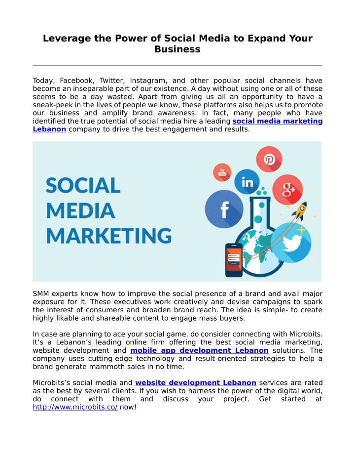 leverage the power of social media to expand your n.