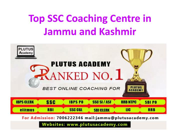 top ssc coaching centre in jammu and kashmir n.