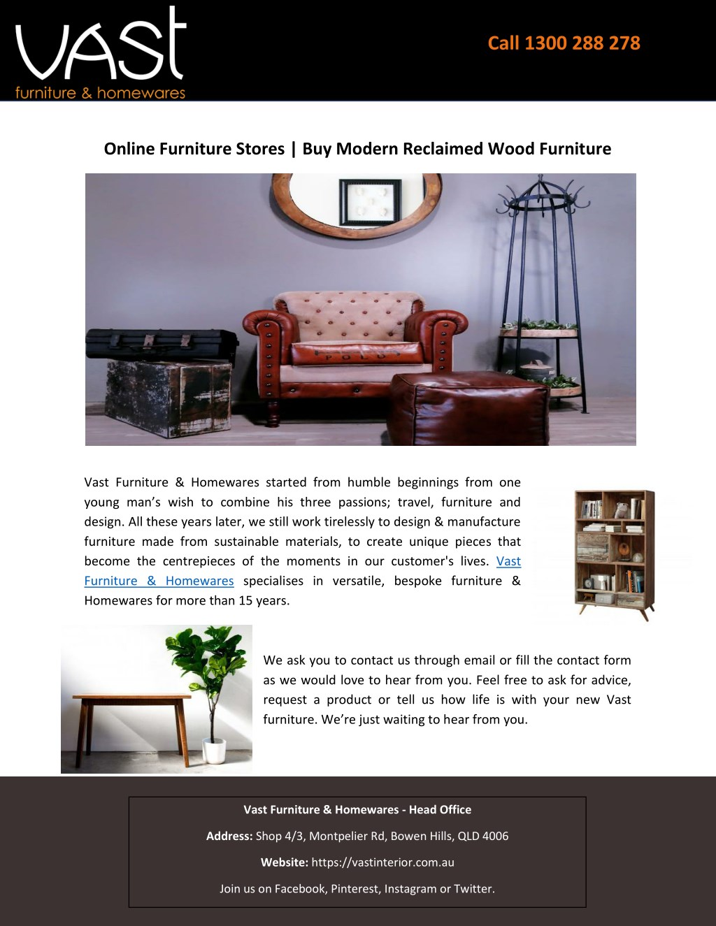 Online furniture stores buy modern reclaimed wood furniture powerpoint ppt presentation