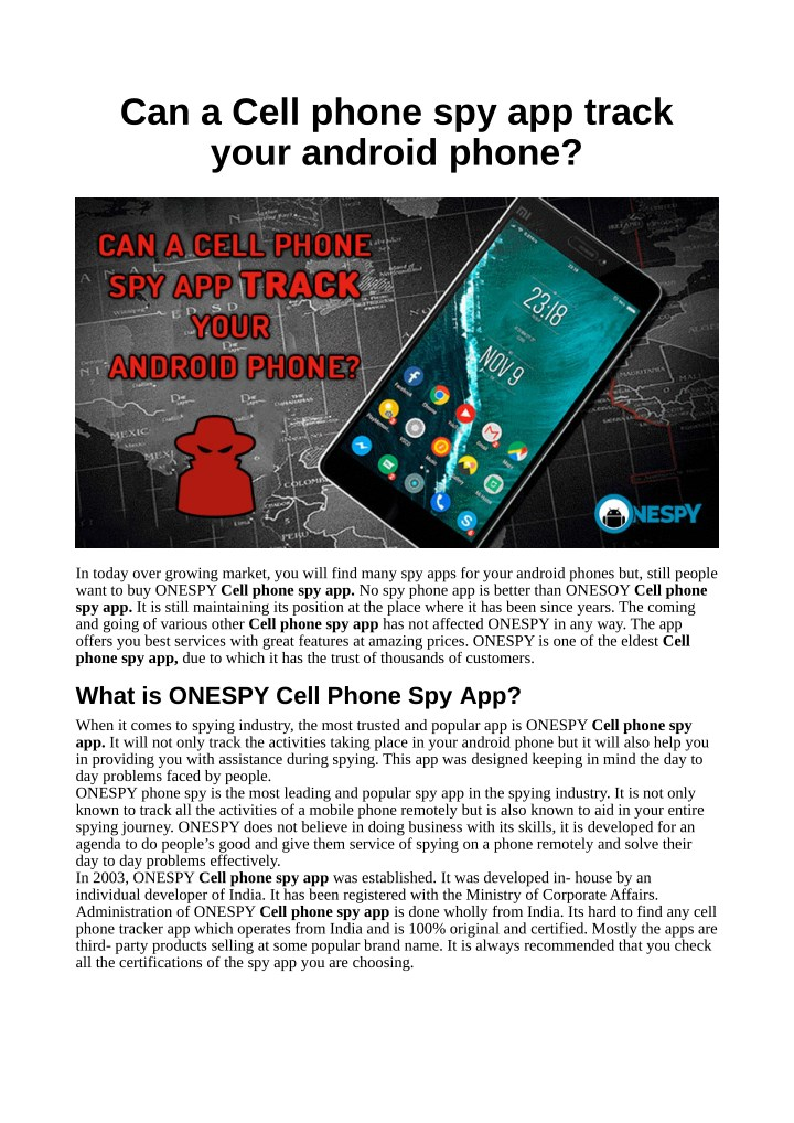 PPT - Can a Cell phone spy app track your android phone