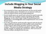include blogging in your social media strategy