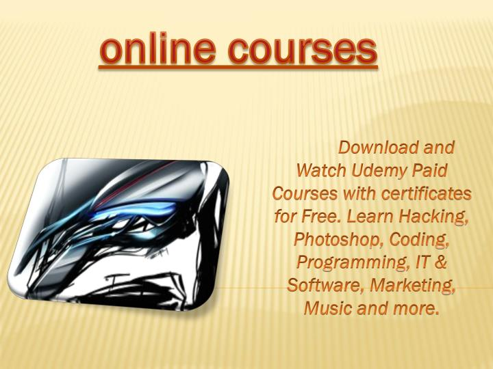 PPT - Free Online Courses with Certificates | Online Classes