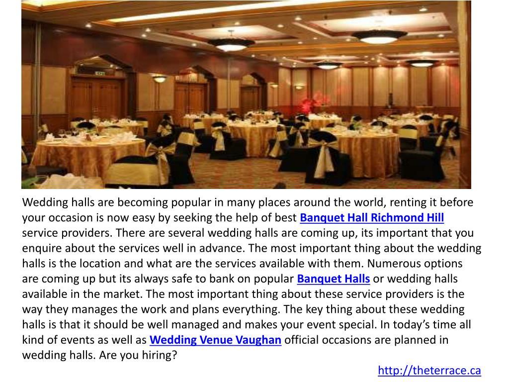 Ppt Vaughan Banquet Halls Wedding Venue Vaughan Powerpoint