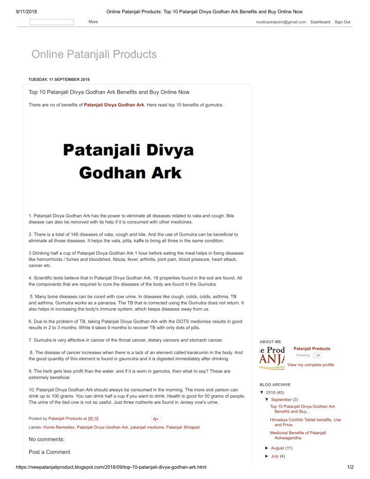 PPT - Top 10 Patanjali Divya Godhan Ark Benefits and Buy