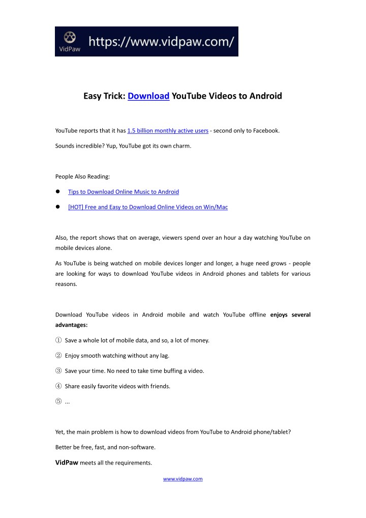 PPT - [FREE] How to Download YouTube Videos on Android Phone