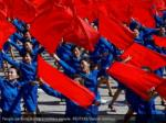 people perform during a military parade reuters