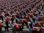 students perform during a military parade reuters