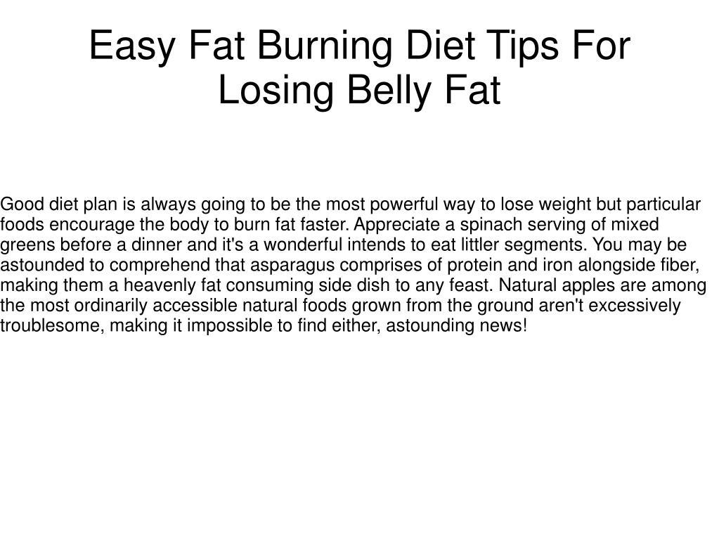 Easiest fat burning diet