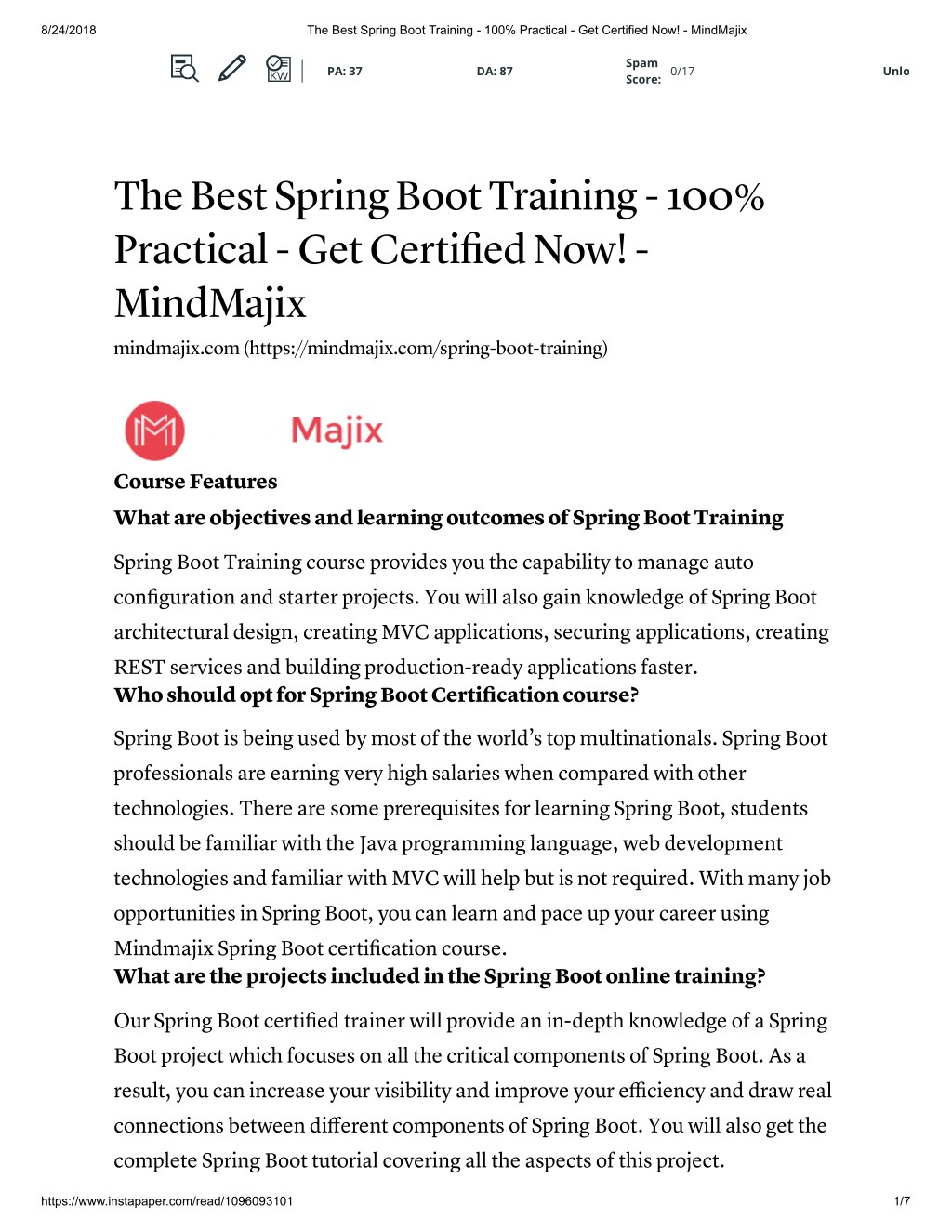 Ppt Spring Boot Online Training With Free Certification