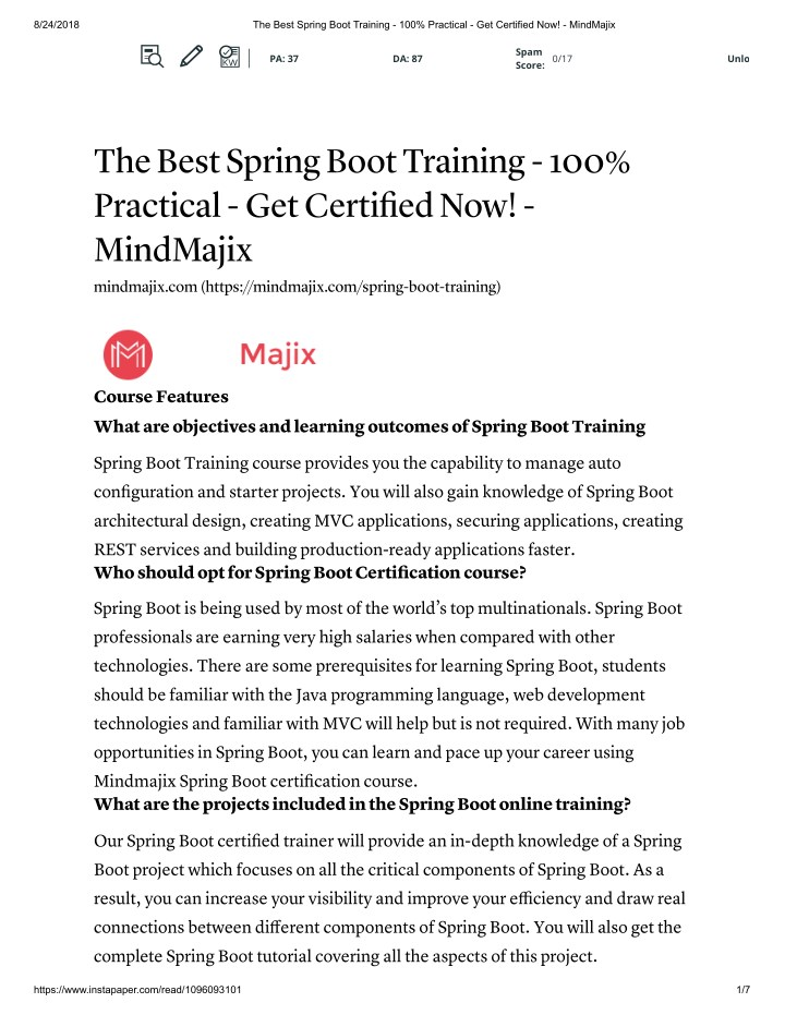 PPT - Spring boot online Training with free certification PowerPoint ...