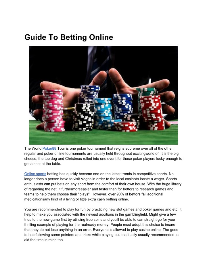 Ppt Guide To Betting Online Powerpoint Presentation Free Download Id 8004743