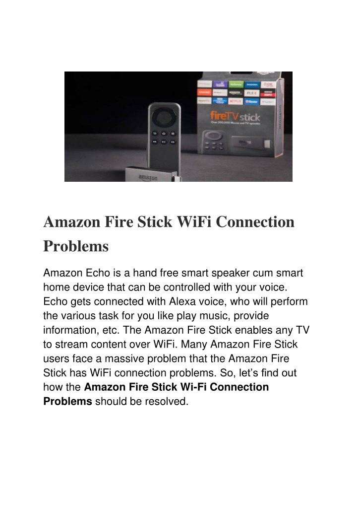 amazon fire stick wifi connection problems n.