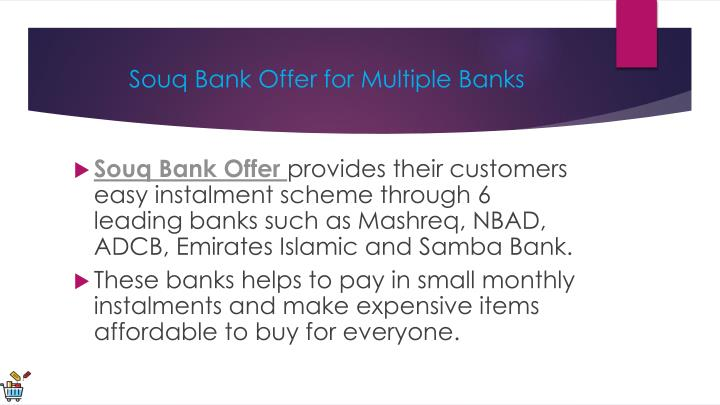 PPT - Souq Bank Offer PowerPoint Presentation - ID:8005480