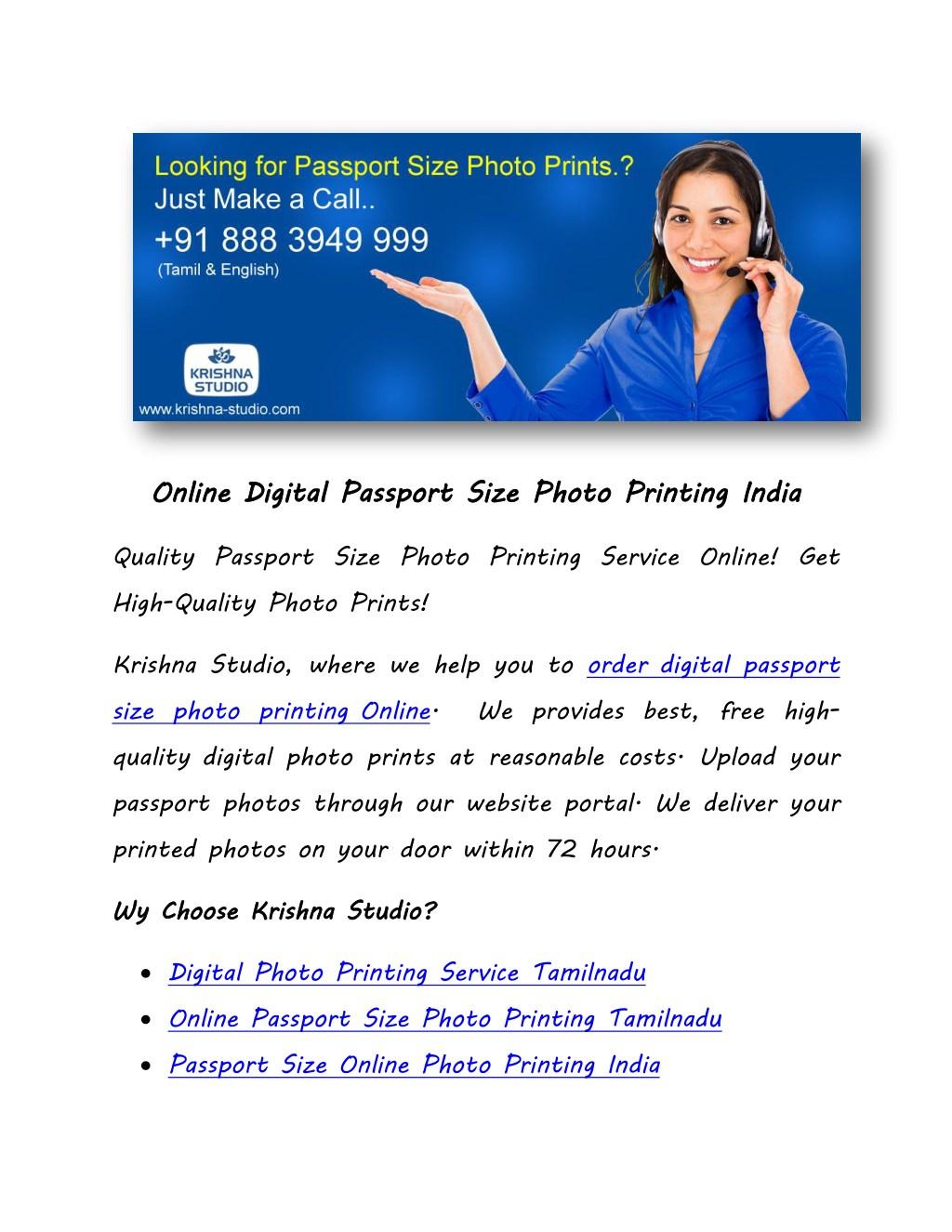 Ppt Online Digital Passport Size Photo Printing India Powerpoint Presentation Id 8005564