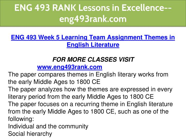 PPT - ENG 493 RANK Lessons in Excellence--eng493rank com