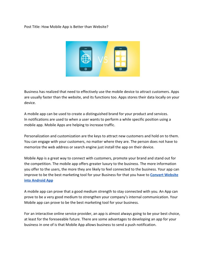 PPT - Convert Website to Mobile App Free PowerPoint