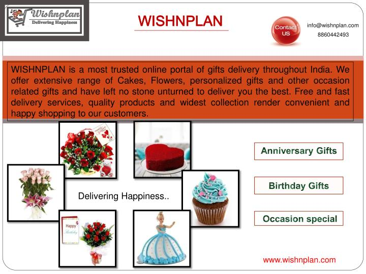 Infowishnplan 8860442493 WISHNPLAN Is A Most Trusted Online Portal Of Gifts