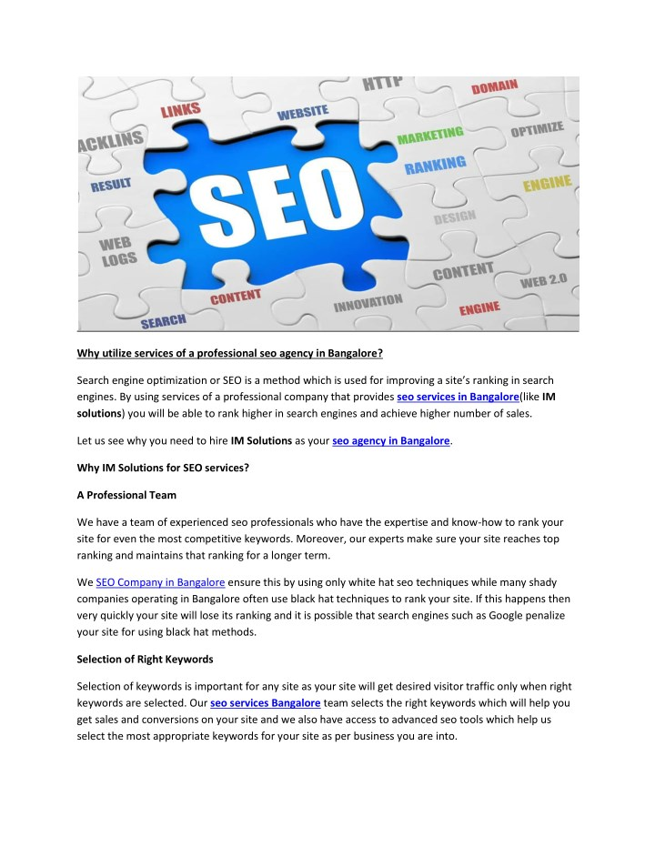 why utilize services of a professional seo agency n.