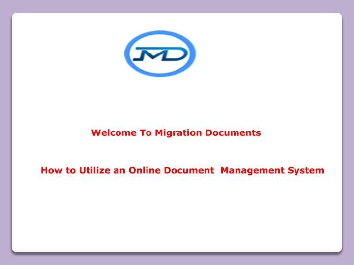 welcome to migration documents n.