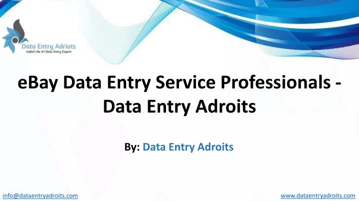 ebay data entry service professionals data entry n.