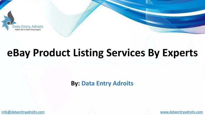ebay product listing services by experts n.