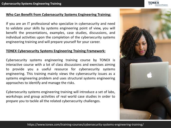 PPT - Cybersecurity Systems Engineering Training : Tonex Training