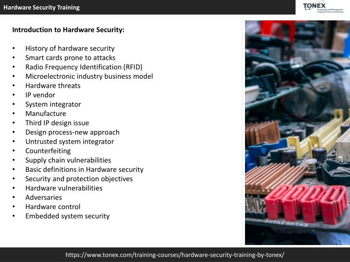 PPT - Hardware Security Training By TONEX PowerPoint