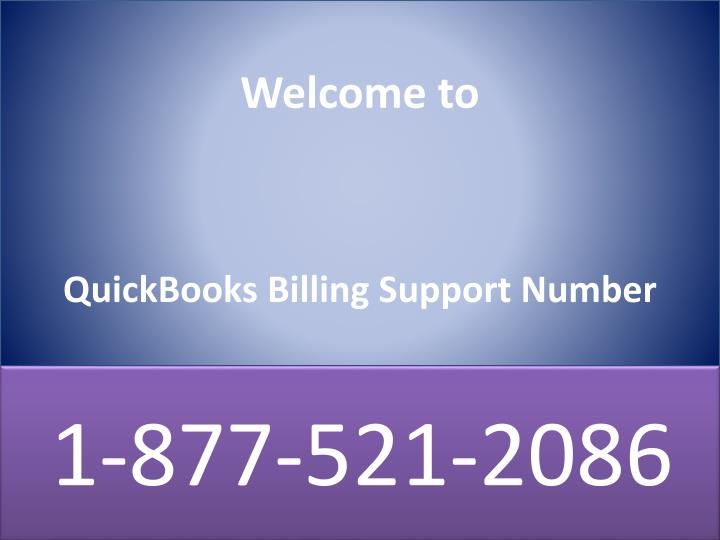 welcome to quickbooks billing support number n.